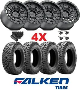 18 Black Rhino Wheels Rims Tires 285 60 18 Falken At3 All Terrain At Method Fuel