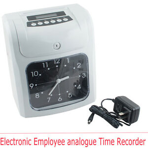Electronic Employee Analoguetime Attendance Clock Recorder Free Time Clock Cards