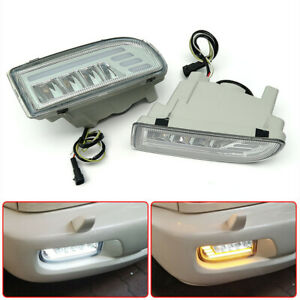 2pcs Led Front Bumper Fog Light For Toyota Land Cruiser Lc100 Fj100 1998 2007