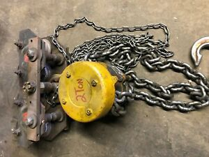 2 ton Chain Hoist With Trolley Cyclone