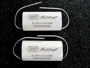 Mit Multicap 5 0uf 200v Ppmfx Series Audiophile Capacitors One Pair