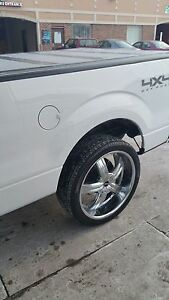 Like New All 5 Five 24 Inch Wheels And Tires For Ford F 150 The Entire Set