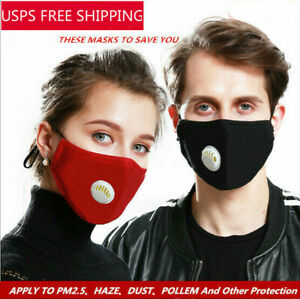 Washable Face Mask Anti Air Pollution Cotton Mask Mouth Cover With Pm2 5 Filters