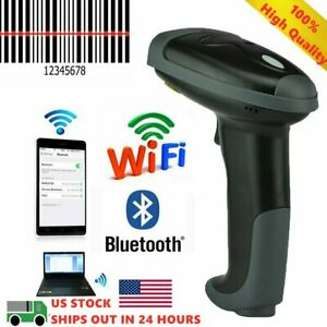 Automatic Laser Handheld Barcode Scanner Pos Gun Code Reader Bluetooth Wireless