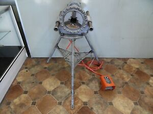 Ridgid 300 T2 Pipe Threader Power Head With Foot Pedal Stand