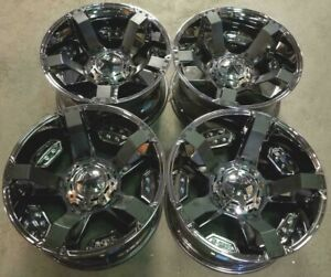 Xd 811 Wheels Rims 22 Inch 8x180 44mm Bright Pvd Black Inserts
