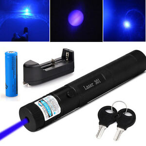 Military 5mw Blue Purple Laser Pointer 405nm Lazer Pen Beam 18650battery charger