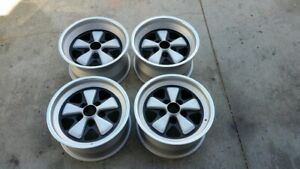 Factory Porsche 911 Fuchs 8j X 16 And 9j X 16 Rsr Frosted Anodize Wheels 951 911