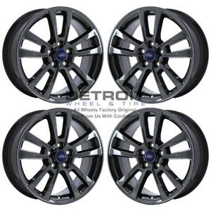 17 Ford Focus Pvd Black Chrome Ps 4 Wheels Rims Factory Oem Aly97512 2012