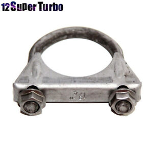 1 3 4 O D Universal Muffler Tips Exhaust Hanger U Bolt Mild Steel Clamp