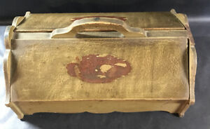 Antique Silverware Sewing Wood Box