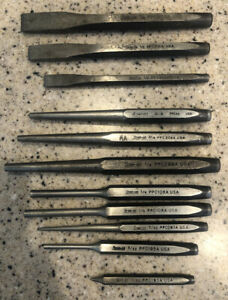 Used Snap On Punch Chisel Set 11 Pc Vgc Made In The Usa