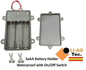 4 5v 3 X Aa Batteries Waterproof Battery Holder Case Container On Off Switch