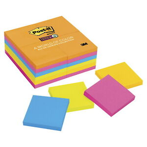 Post it Notes 3 X 3 Inches Rio Colors 24 Pads With 90 Sheets Each