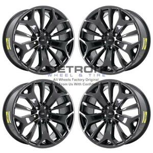 19 Ford Taurus Pvd Black Chrome Wheels h Rims Factory Oem 3925a Exchange 201