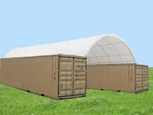 Covermore 20 x40 Shipping Cargo Container Conex Fabric Building Shelter Garage