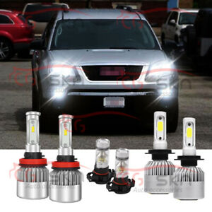 For Gmc Acadia 2007 2008 2009 2010 2011 2012 6x 6000k Led Headlight Fog Light