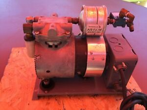 Used Thomas Compressor Vacuum Pump Model 619ce44 101a In Working Condition