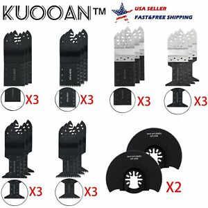 20pcs Oscillating Multi Tool Bi metal Saw Blade For Ryobi Ridgid Craftsman Fein