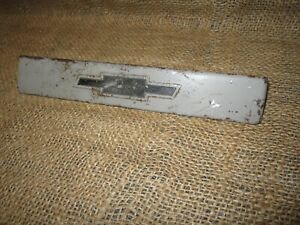 Vintage Gm 54 55 Chevy Pickup Truck Suburban Radio Delete Block Off Plate Dash