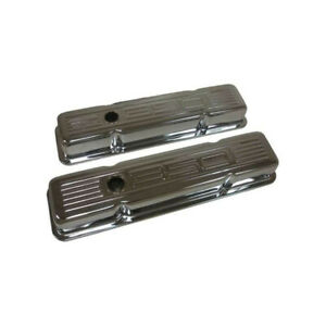 Chevy Small Block Chrome Valve Covers With 350 Logo Short 1958 1986 50 310281 1