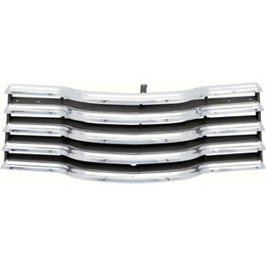 Chevy Truck Grille Chrome With Black Painted Back Bars 1947 1953 61 285688 1