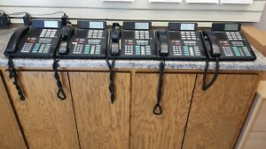 Nortel meridian M7310 lot Of 5 Desktop Phones With Phone System Busy Lamp