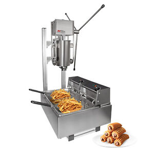 Churros Machine Manual Churro Maker With Working Stand Deep Fryer 3l
