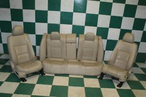 13 18 Taurus Tan Leather Heated Cooled Power Front Buckets Backseat Seat Set Oem