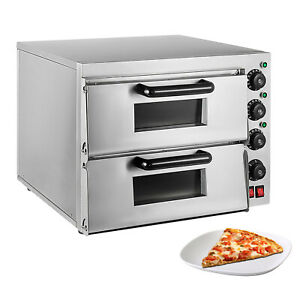 Double Pizza Oven Electric Pizza Maker Separately Controlled Thermostats