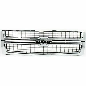 New Chrome Grille For 2007 2010 Chevrolet Silverado 2500 3500 Hd Ships Today