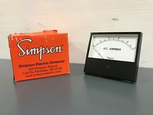 New Simpson Electric 3344a Analog Panel Meter 16175