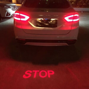 Auto Car Motorcycle Stop Projection Alarm Led Laser Fog Light Tail Warning Lamp