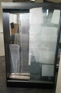 Retail Display Case Cabinet With Glass Doors Shelves 78 X 48 X 12 Local Sd Only