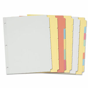 Avery Write on Plain tab Dividers 5 tab Letter 36 Sets 11501