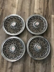 1986 1979 1978 1987 Chevy Monte Carlo 14 Inch Wire Spoke Hubcaps Wheel Covers 85