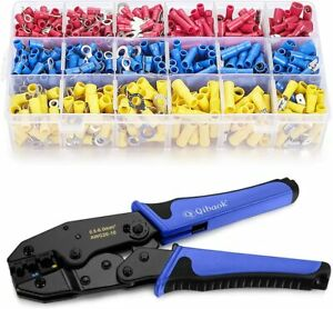 Wire Terminals Crimping Tool Insulated Ratcheting Terminals Crimper Kit