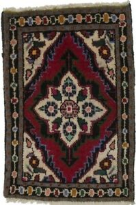 Small Size Hand Knotted Tribal 1 5x2 2 Vintage Area Rug Oriental Home Carpet