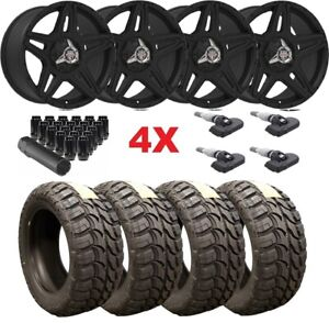 Black Centerline Wheels Rims Tires 35 12 50 17 35 12 50 17 Mud 8 2500 3500