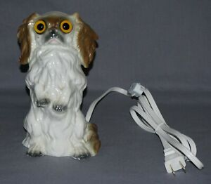 Antique Rosenthal Figural Dog Glass Eyes Perfume Lamp Or Nite Lite