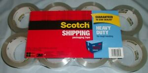 Scotch Heavy Duty Shipping Tape 2 Packages Total Of 16 Rolls