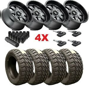 20 Anthracite Wheels Tires 33 12 50 20 33x12 50r20 Mud Fuel Baja Gray F 150