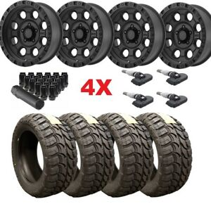 18 Matte Black Wheels Rims Tires 33 12 50 33x12 50r18 Mud Mt Method Atx Fuel