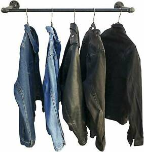30 Heavy Duty Pipe Clothes Rack Wall Mounted Garment Bar Detachable Hanging Rod