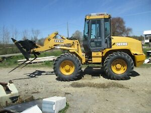 2004 John Deere 324h Wheel Loader With Bucket Forks