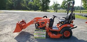 2019 Kubota Bx2380 Compact Loader Tractor W mower Only 24 Hours Warranty
