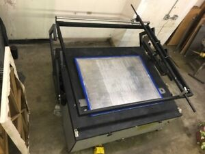 Large Format One armed Screen Printing Press For Flatstock Parallel Assist Lift