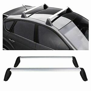For 12 16 Subaru Impreza Fixed Silver Roof Rack Cross Bar Set Pair