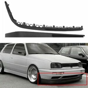 2pcs For Vw Golf Mk3 Gti Vr6 Euro Front Bumper Chin Spoiler Lip Valance Splitter