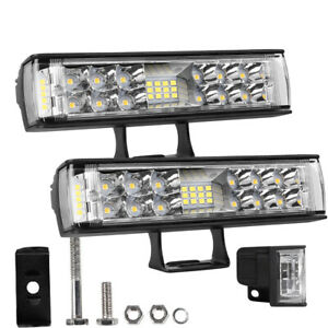 Pair 7 Led Work Light Offroad Pod Lights Driving Fog Lamps Trucks Atv Utv 6